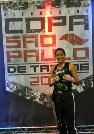 atleta de Kickboxing Caroline Bartier
